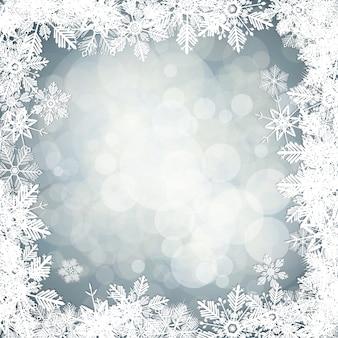 Fond de flocons de neige de vecteur