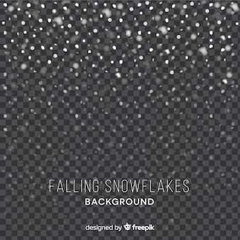 Fond de flocons de neige
