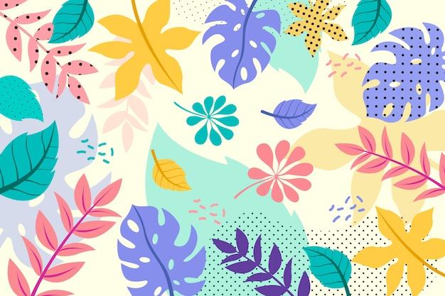 Fond floral abstrait plat