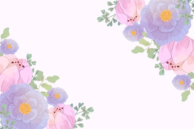 Fond floral aquarelle aux couleurs pastel