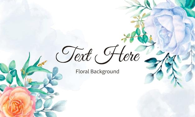 Fond floral aquarelle élégant
