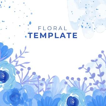 Fond floral aquarelle. fleurs à l'aquarelle à la mode, lignes, feuilles, éléments de décoration abstraits et organiques.
