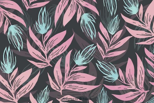 Fond floral aquarelle monochromatique