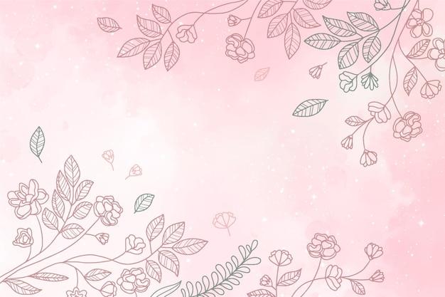 Fond floral aquarelle peint à la main