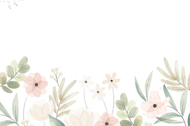 Fond Floral Aquarelle Peint à La Main Vecteur gratuit
