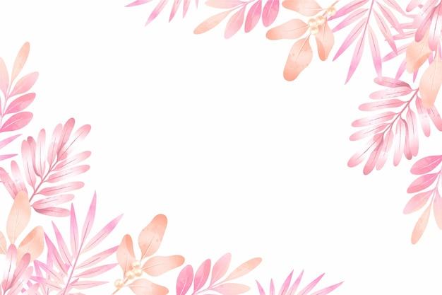 Fond floral aquarelle