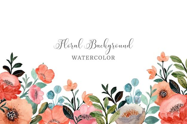 Fond floral avec aquarelle