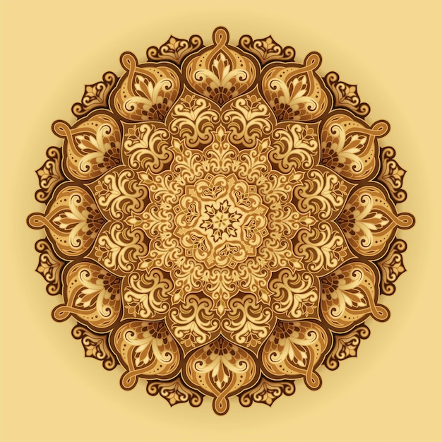 Fond floral arabesque