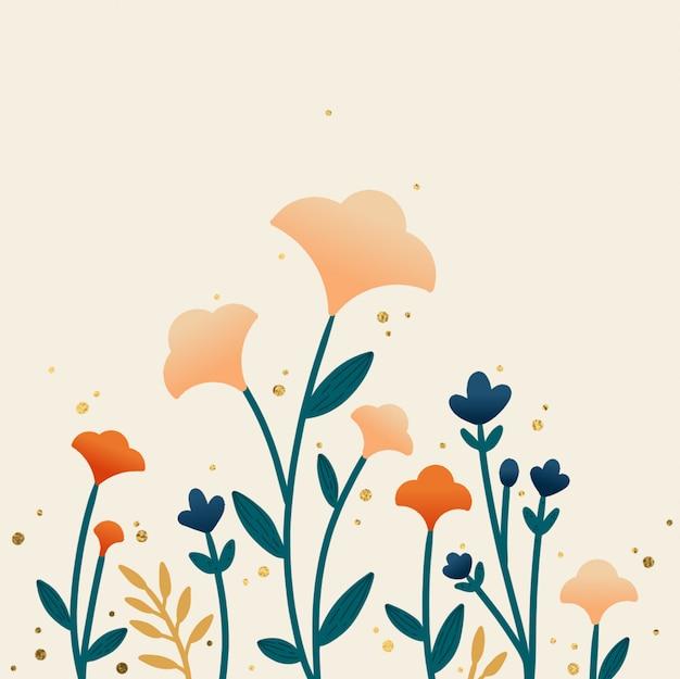 Fond floral automne dessinés à la main