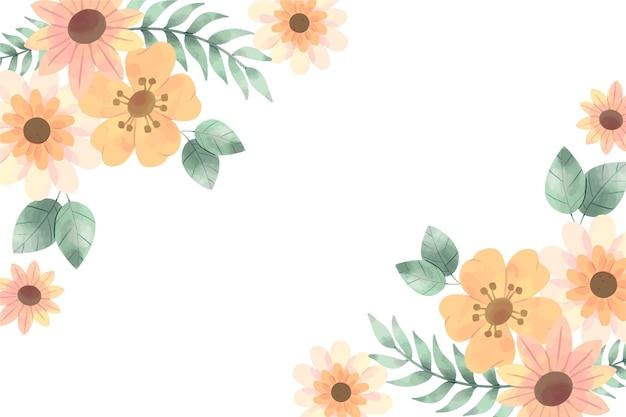 Fond floral aux couleurs pastel