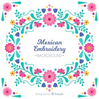 Fond floral de broderie mexicaine