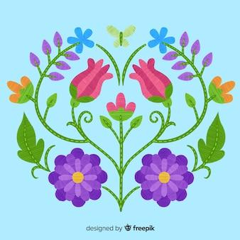 Fond floral de broderie
