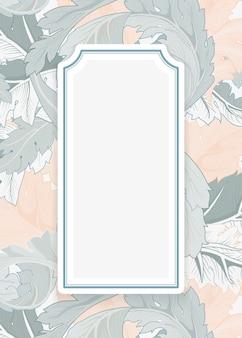Fond floral avec cadre centré