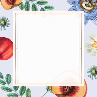 Fond floral cadre or vintage