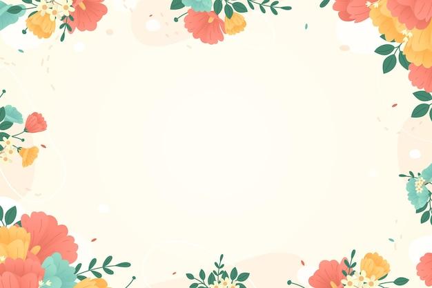 Fond floral coloré avec cadre