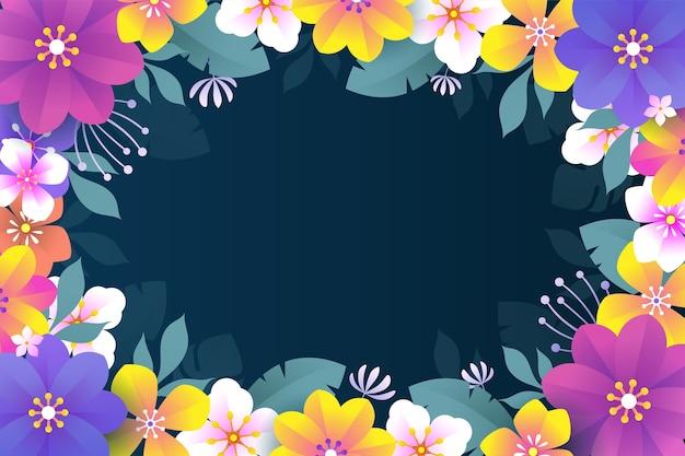 Fond floral coloré avec un design plat