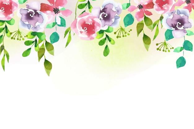 Fond floral de conception aquarelle