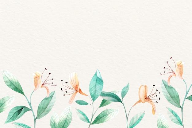 Fond floral avec des couleurs douces