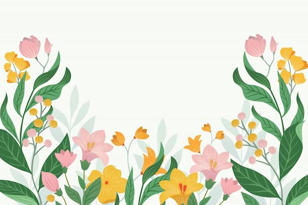 Fond floral avec des couleurs pastel