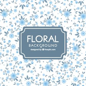 Fond floral dans un style plat