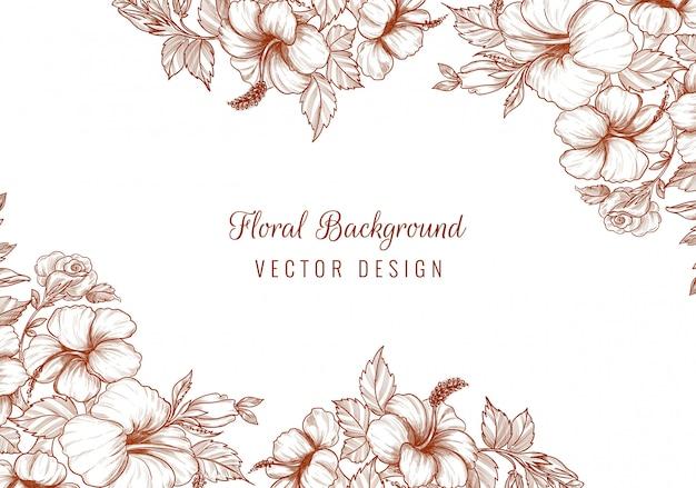 Fond floral décoratif de mariage élégant