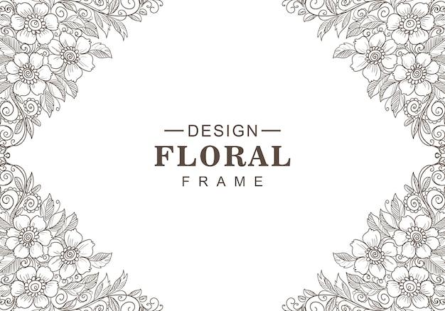 Fond floral décoratif moderne