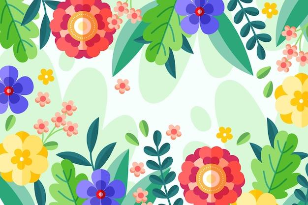 Fond floral design plat