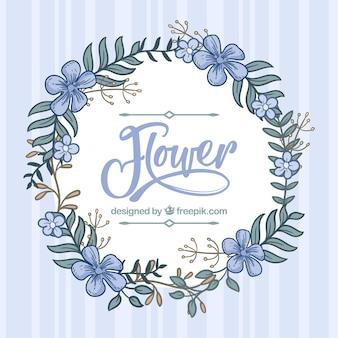 Fond floral dessiné à la main avec un style charmant
