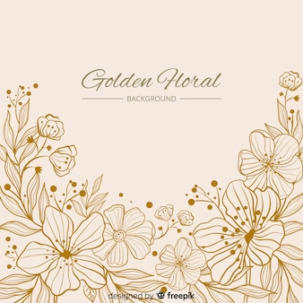 Fond floral dessiné à la main