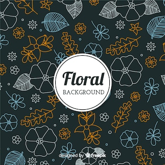 Fond floral doodle