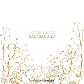 Fond floral doré