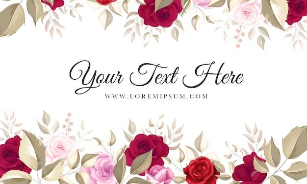 Fond floral élégant avec de belles roses marron