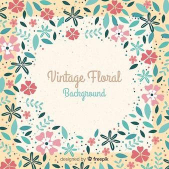 Fond floral élégant avec style vintage