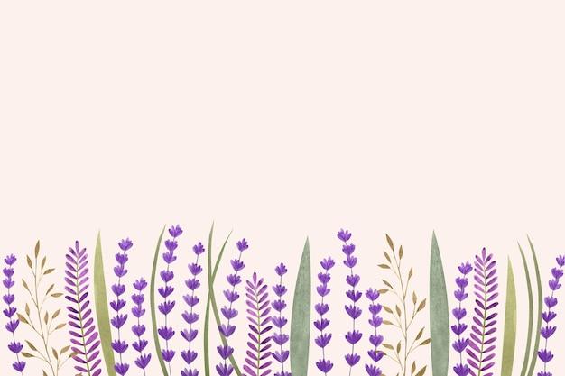 Fond floral avec un espace vide