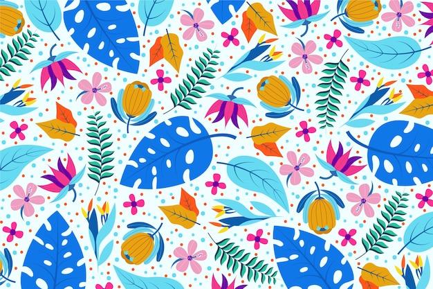 Fond floral exotique coloré