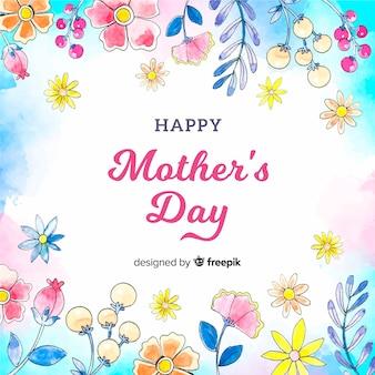 Fond floral de fête des mères