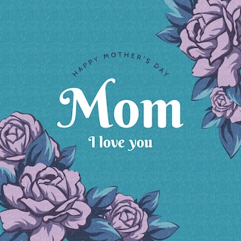 Fond floral de la fête des mères