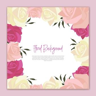 Fond floral fleur rose