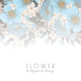 Fond floral - fleurs bleu clair