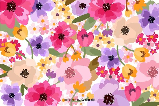 Fond floral de fleurs décoratives
