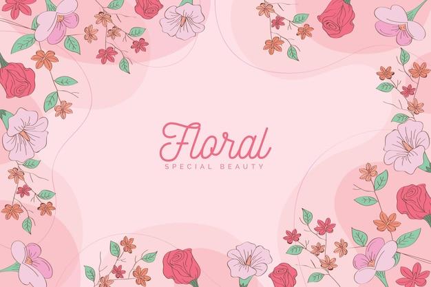 Fond floral en fleurs