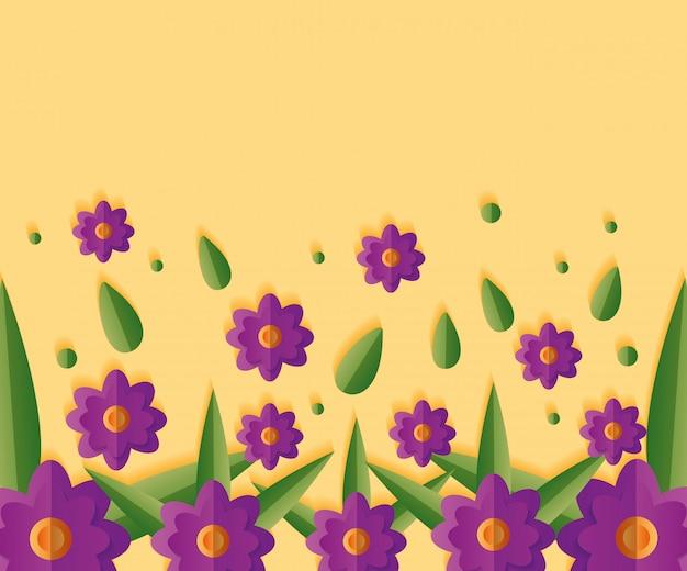 Fond floral de fleurs