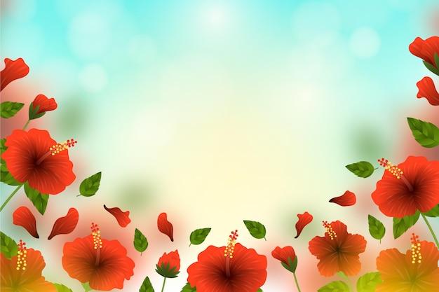 Fond floral flou réaliste