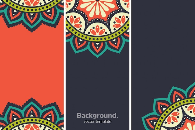 Fond floral géométrique coloré