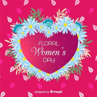 Fond floral de la journée des femmes