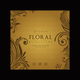 Fond floral de luxe moderne