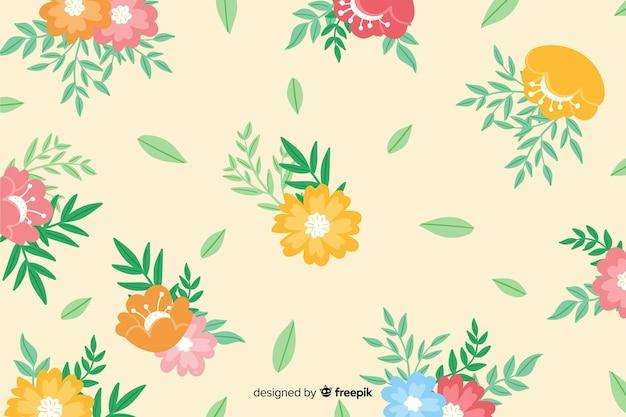 Fond floral peint à la main colorée