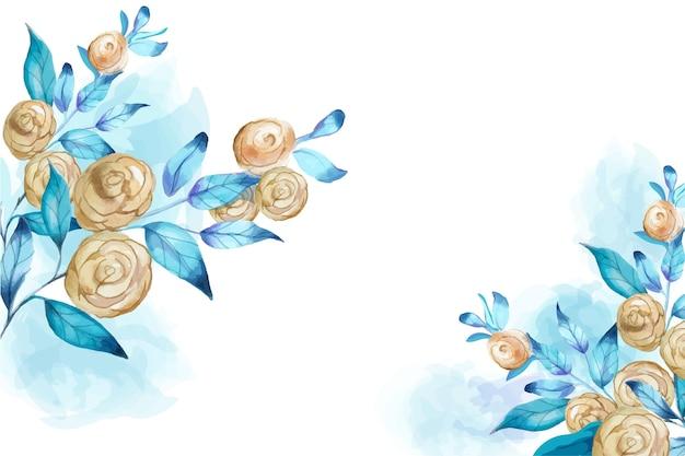 Fond floral peint à la main