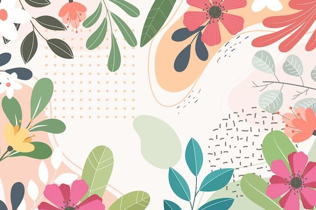 Fond floral plat abstrait