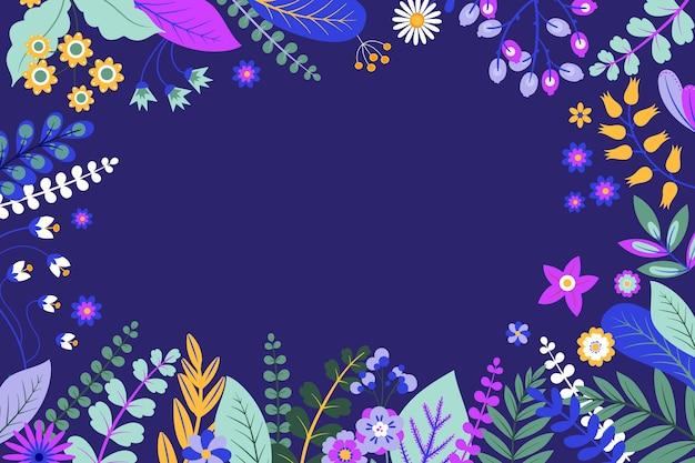 Fond floral plat